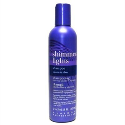Clairol Shimmer Lights 8oz. Shampoo (Blonde&Silver) (6 Pack) by Clairol