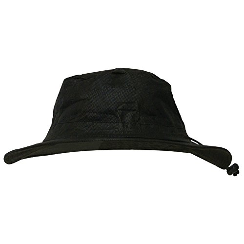 - Frogg Toggs Waterproof Breathable Bucket Hat, Black, Adjustable