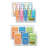 Post-it Flags Combo Pack, 1/2'' and 1'', Assorted Bright Colors, 320/Pack (680SH4VAOTG)