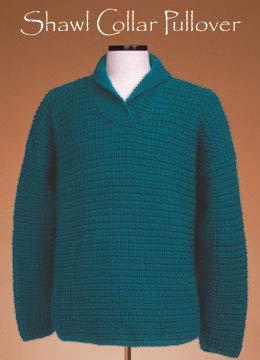 (120 Vermont Fiber Pattern Shawl Collar Pullover)