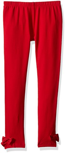 Gymboree Toddler Girls' Red Legging with Bows, Deep Rouge, 5T