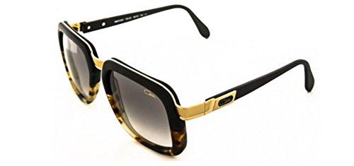 Cazal 616 Sunglasses 092 Matte Black Yellow Tortoise Matte Gold 56 - 616 Cazal Sunglasses