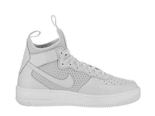 Nike Mens Air Force 1 Ultraforce Mid Shoes Platino Puro / Bianco