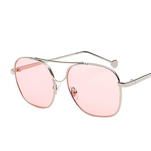 Aoligei Verres de couleur océan morceau lunettes de soleil lunettes de soleil cadre métallique miroir plat marée homme pilote kuhElciZn3