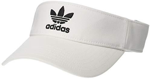 adidas Men's Originals Twill Visor, White/Black, One - Twill Cotton Visor