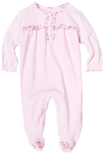 ABSORBA Baby-girls Newborn Winter Bouquet Footie