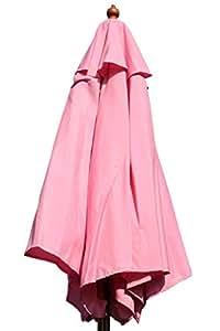 Olive Grove 2M Wide Garden Parasol in Pink