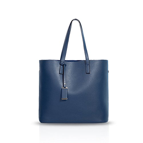 NICOLE&DORIS Bolsos de mano Bolsa de Hombro Bolso de Crossbody Totalizador Cartera PU Azul Azul