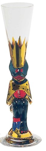 Orrefors Nobel Schnapps Glass, Gold