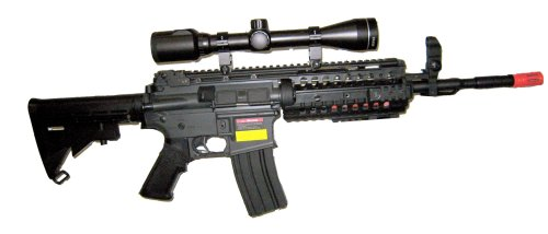- JG M4 RIS System with Rifle Scope Sniper Airsoft Gun 500 FPS