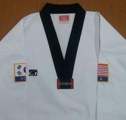 GTMaブラックベルトUniform with USAと韓国パッチ B00O3QJGDO  0
