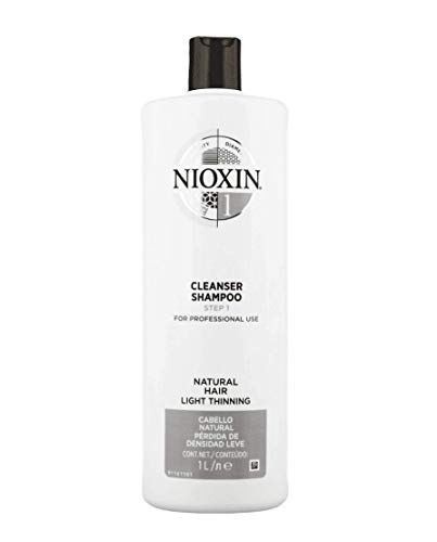 Nioxin System 1 Cleanser - Nioxin Cleanser Shampoo System 1 for Fine Hair with Light Thinning, 33.8 Ounce