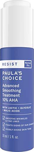 (Paula's Choice RESIST Smoothing Treatment 10% AHA Serum | Lactic, Glycolic & Malic Acids | Anti-Aging Exfoliant | Dry Skin | 1 Ounce)