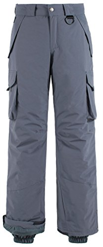 Wantdo Men's Waterproof Warm Padding Insulated Snow Pants Cargo Pants