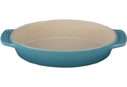 picture of Le Creuset Stoneware Oval Dish, 1-3/4-Quart, Caribbean