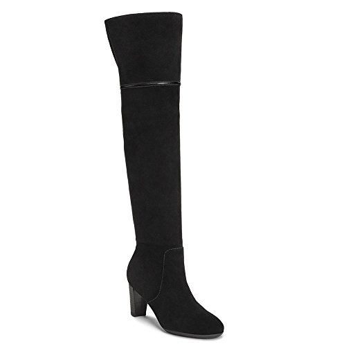 Aerosoles Women's Lavender Over the Knee Boot, Black Suede, 8 M US by Aerosoles
