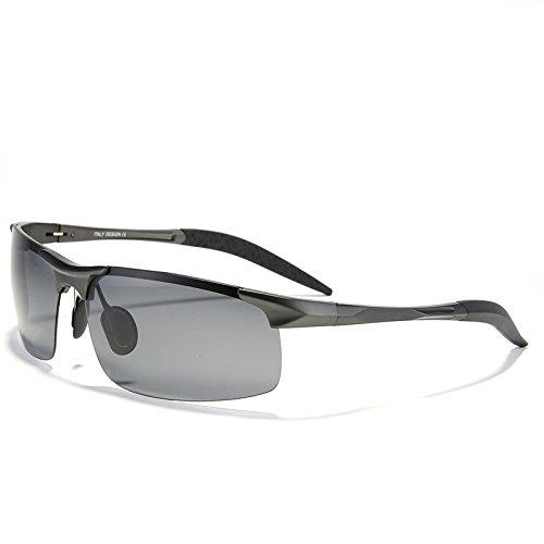 magnesio TIANLIANG04 gafas Guía Grigio sol de de irrompible Negro sol de aleación UV400 para hombres macho aluminio gafas de moda polarizado de rxrqwFBY