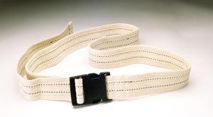 Val Med Medical VM-6580 Comfort Plus Gait Belt, Natural Cotton, Navy Pinstripes and Plastic Buckle, White, 60'' Length (Pack of 36)