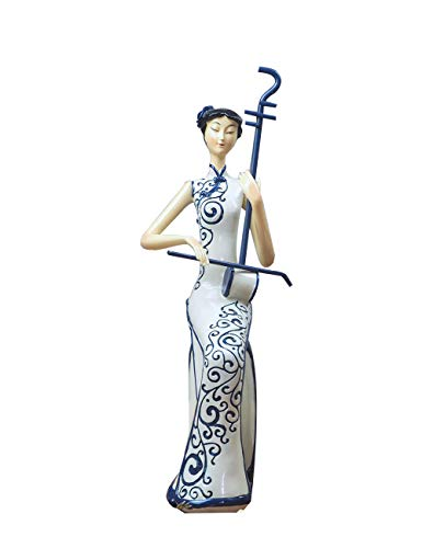 HauCoze Chinese Lady Woman Statue Figurine Sculpture Figure Home Decor Decoration Collectible Gifts Arts Crafts Hand Painted Polyreisn 26cmH