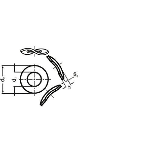 Widex 52013794DIN 137B Pulley Spring Steel Rust Resistant 1.43104.3Pack of 1000