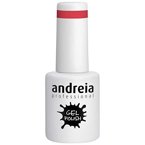 Andreia Semi-Permanent Nagellack Gel Poliermittel Farbe 208 Rot - Schattierungen von Pink - 10.5 ml