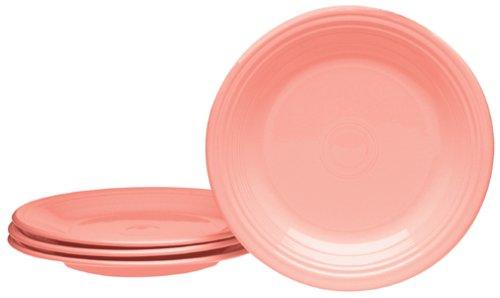 Homer Laughlin Wells (Fiesta Rose 466 10-1/2-Inch Dinner Plates, Set of)