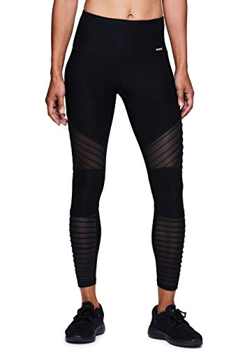 RBX Active Women's Gym Workout Yoga Leggings Moto Multi Black M