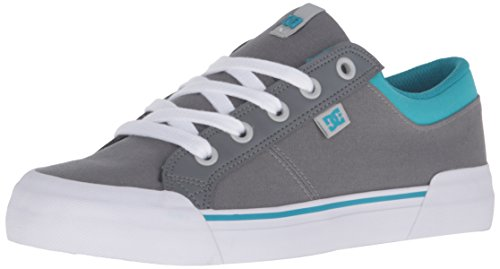 DC Danni Skate Shoe, Grey/Blue, 8 M US