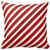 Generic Custom 18 X 18 Pillow Cover Cover Christmas Candycane Stripe Pillowcase Pattern