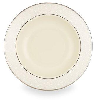 Lenox Pearl Innocence Platinum Banded Ivory China Pasta Bowl/Rim Soup ()