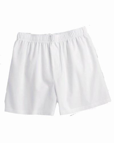 "Boxercraft C11 Men's 3.5"" Inseam 100% Cotton White Boxer - White C11 L"
