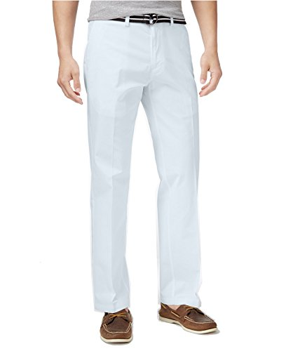 Heritage Mens Pants (Haggar Mens Heritage Flex-Waist Straight-Fit Poplin Pants (32W X 29L, Light Blue))