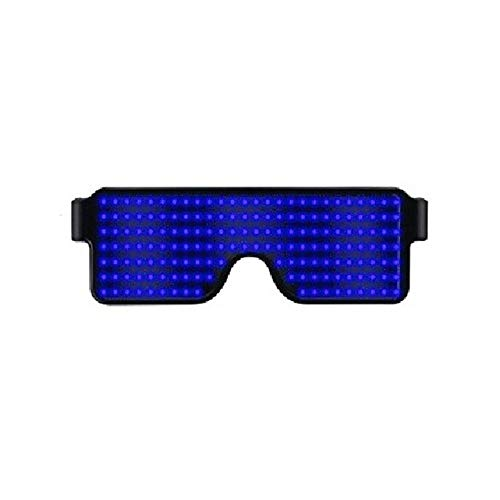 FOONEE LED Sunglasses, Neon Glow Flashing LED Light Up Glasses for Parties, Festivals, Fun, Sports, Costumes, EDM Decorations
