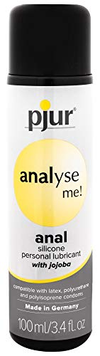 Pjur Analyse ME Silicone Lubricant - Long-Lasting Silicone Personal Lubricant Created to Facilitate Anal Intercourse - Enriched with Dimethicone and Jojoba Oil (3.4 Fluid Ounces / 100 Milliliters)