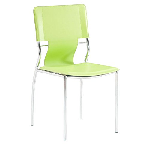 Zuo Trafico Dining Chair (Set of 4), Green