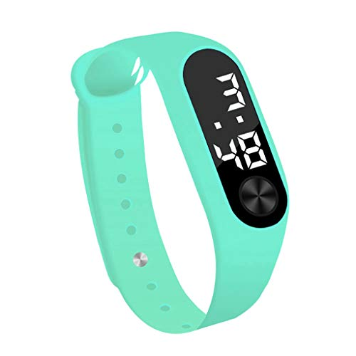 Amazon.com: Inkach Smart Wrist Band Pedometer Bracelet for Womens Mens Run Step Walking Distance Calorie Counter Watch Digital LED Clock Sports Watches (Sky ...