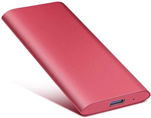 2TB External Hard Drive, Portable Hard Drive External Type-C/USB 2.0 HDD for Mac Laptop PC (2TB, RED)