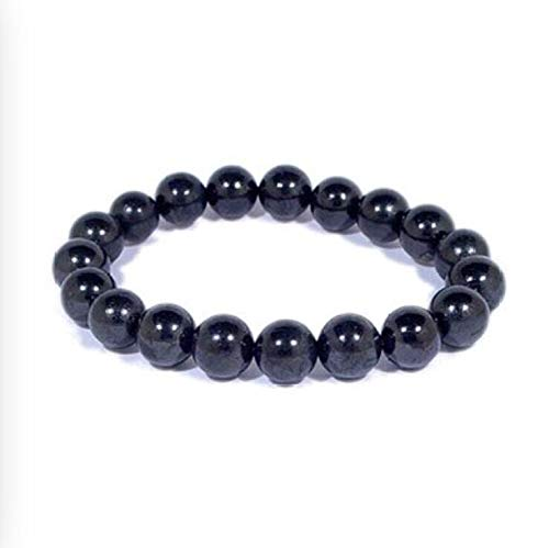 30 8mm Shungite Bracelet Shungite Bead Bracelet Elite Black Stretchy Reiki WiccaNatural Crystals & Rocks for Cabbing, Cutting, Lapidary, Tumbling, Polishing, Wire Wrapping, Wicca