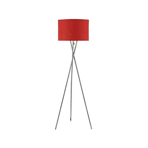 Euro Style Collection ESCFL-Lisboa-RED Tripod Metal Body Marble Base Floor Lamp, 63