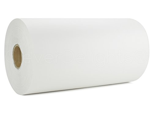 CleverDelights White Tissue Paper Roll - 5200' x 20'' Wide - 10# - Bulk Gift Tissue Paper by CleverDelights