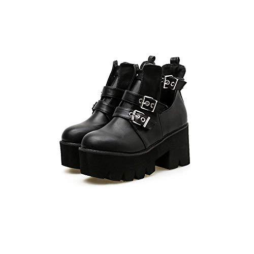 Wild Tacco Stivali Punta E Donna Stiletto 39 Inverno Martin colore Nero Nuovo Short Nero Trend Boots Dimensione Ladies Autunno Alto Qiusa Scarpe 68WvnBxn