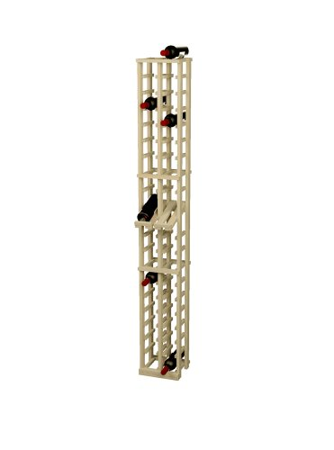 - Wine Cellar Innovations Rustic Pine Wine Rack with Display Row for 40 Wine Bottles, 2 Column, Unstained