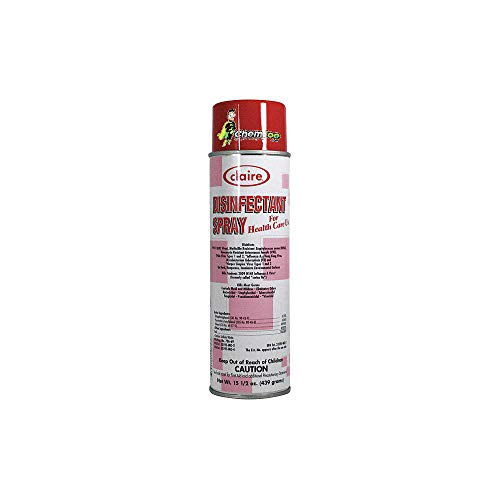 Claire C-081 15.5 Oz. Lemon Scent Disinfectant Spray for Health Care Use Aerosol Can (Case of 12)