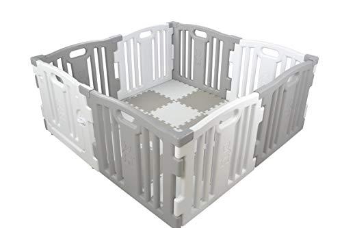 Parque De Bebe Xl 8 Piezas Star Ibaby Play Twinincluye Alfombra Puzzle 16 Piezasmultiples Formas De Montaje Color Blancogris