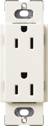 Lutron SCRS-15-TR-BI Satin Colors 15-Amp Tamper Resistant Re