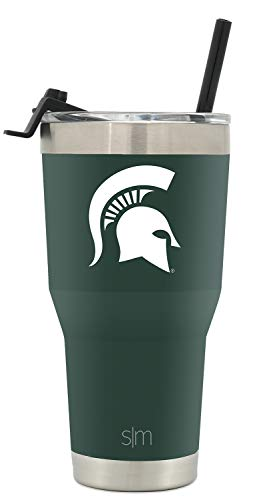 Michigan State Spartans Coffee Mug - Simple Modern College Tumbler Straw Michigan State