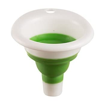 New Mini Silicone Collapsible, Foldable Funnel,Light Green,