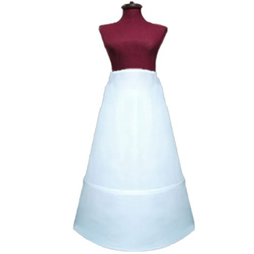 SACASUSA (TM) Adjustable 2-Hoop A-Line Wedding Bridal Petticoat Slip Circumf. 88 -