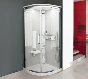 Cabina de ducha NEXIS R 90 x 90 cm en cuarto de círculo Version ...