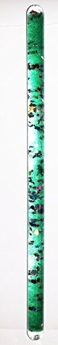Lime Green 11 Inch Stars and Moon Glitter Wand for Kaleidoscope or Party ()